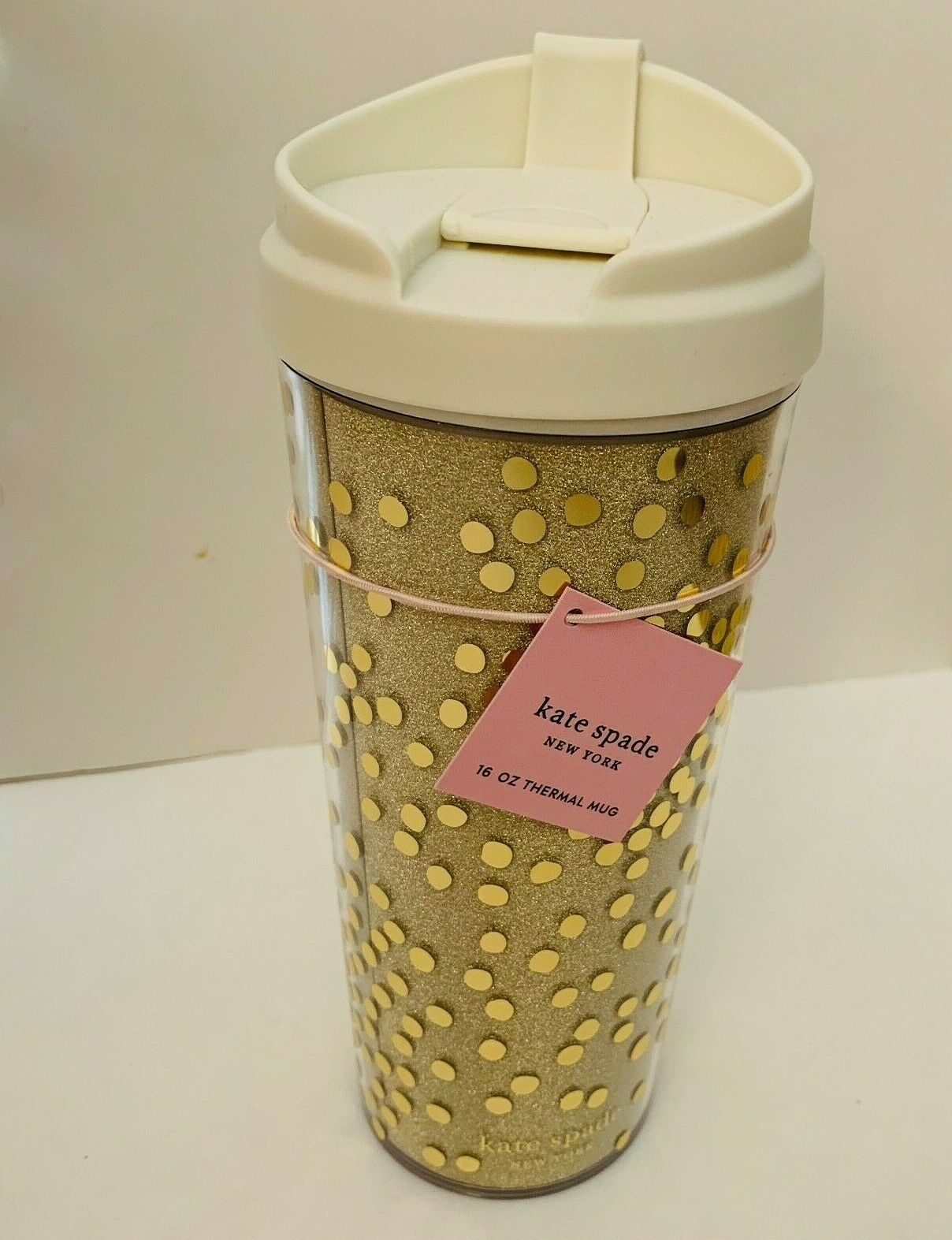 Kate Spade New York Gold Floral Tumbler Insulated Gold with