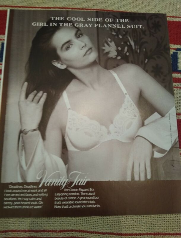 1988 Vanity Fair lacy white sexy  bra  lingerie ad