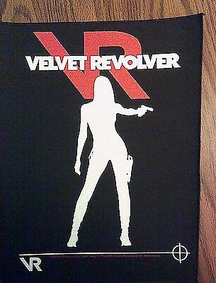 VELVET REVOLVER BACKPATCH girl guns n roses slash back patch band 2004 VINTAGE