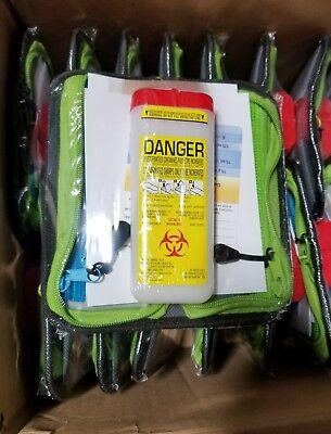 Box Of 28 Sanofi Biohazard Mini Sharp Contaminated Container Kit   Skbawa 000