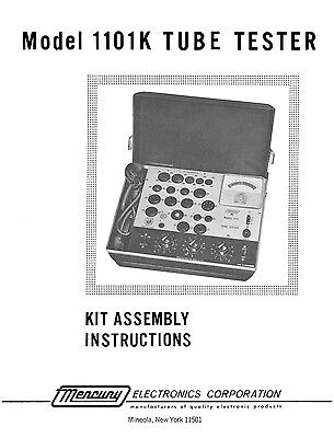 Mercury 1101k Tube Tester Assembly Manual