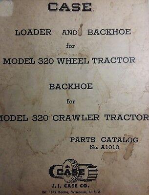 Case Loader Backhoe Parts Manual For Model 320 Ck Industrial Tractor Crawler