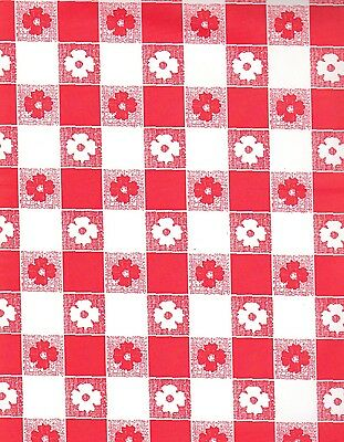 Red and White Gingham table cover tablecloth plastic 84