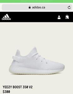 Yeezys Boost 350 v2 All White for sale