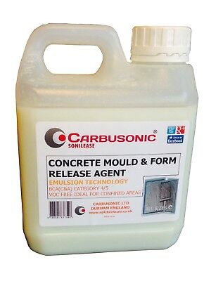 Concrete Mould Release Agent 1 Lt Use On Wooden Forms Silicone Moulds Non Toxic.
