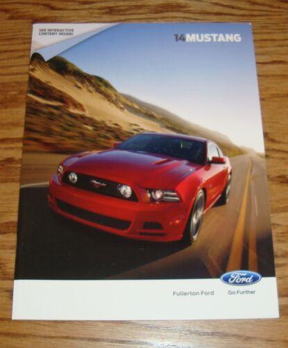 Original 2014 Ford Mustang Sales Brochure 14 GT Shelby GT500