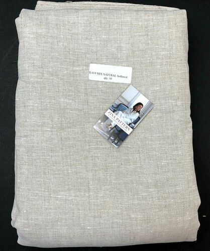 100% Linen Fabric MIX NATURAL 10 Yards IL019 by Fabrics Store NEW