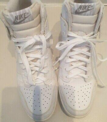 Ladies Size 7 White Dunk Sky Hi Nike Trainers