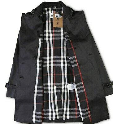 Burberry Coat Jacket Trench Womens Beltted Double Breatset Size M knee