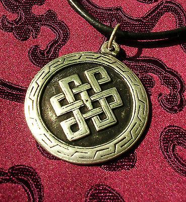 Schönes Amulett ENDLOSER KNOTEN für ewige Liebe aus Nepal