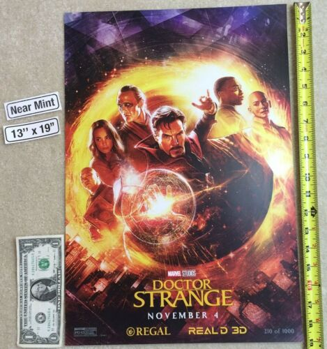 Doctor Strange Magic 13 x 19 Poster Regal Real D 3D Limited Edition 2016