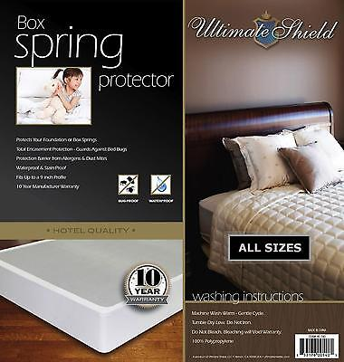 Mattress Box Spring Cover/Protector Bed Bug Hypoalergenic  Encasement (Bed Bug Mattress And Box Spring Protector)