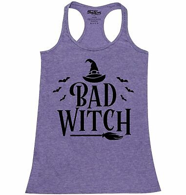 Bad Witch Blk Racerback Tank Top Funny Matching Best Friends Halloween