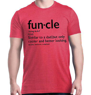 Fun-cle T-Shirt Funny Gift for Uncle Funcle Definition Fun Best Uncle To Be