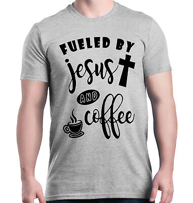 Fueled by Jesus and Coffee T-shirt Christian Religious God (Fueled By Jesus And Coffee T Shirt)