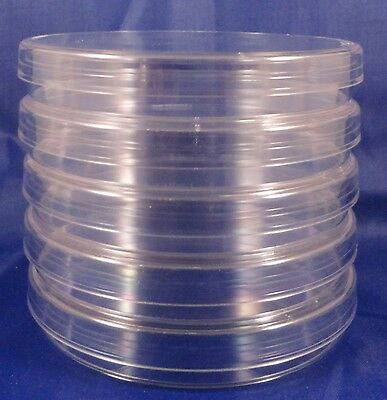 5 100mm X 15mm Sterile Plastic Petri Dishes With Lids - Heavy Duty