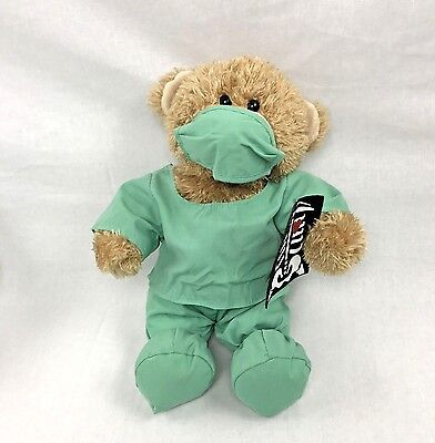 Build A Bear Doctor Workshop Teddy In Green Scubs with Xray Outfit 14