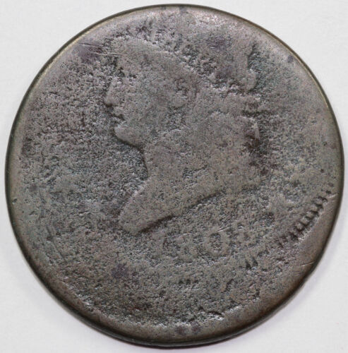 1808 1c Off Center Strike Classic Head Large Cent