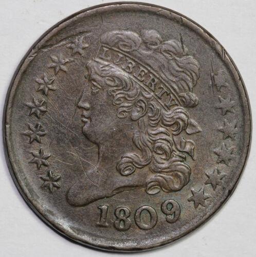 1809 1/2c C-5 Classic Head Half Cent