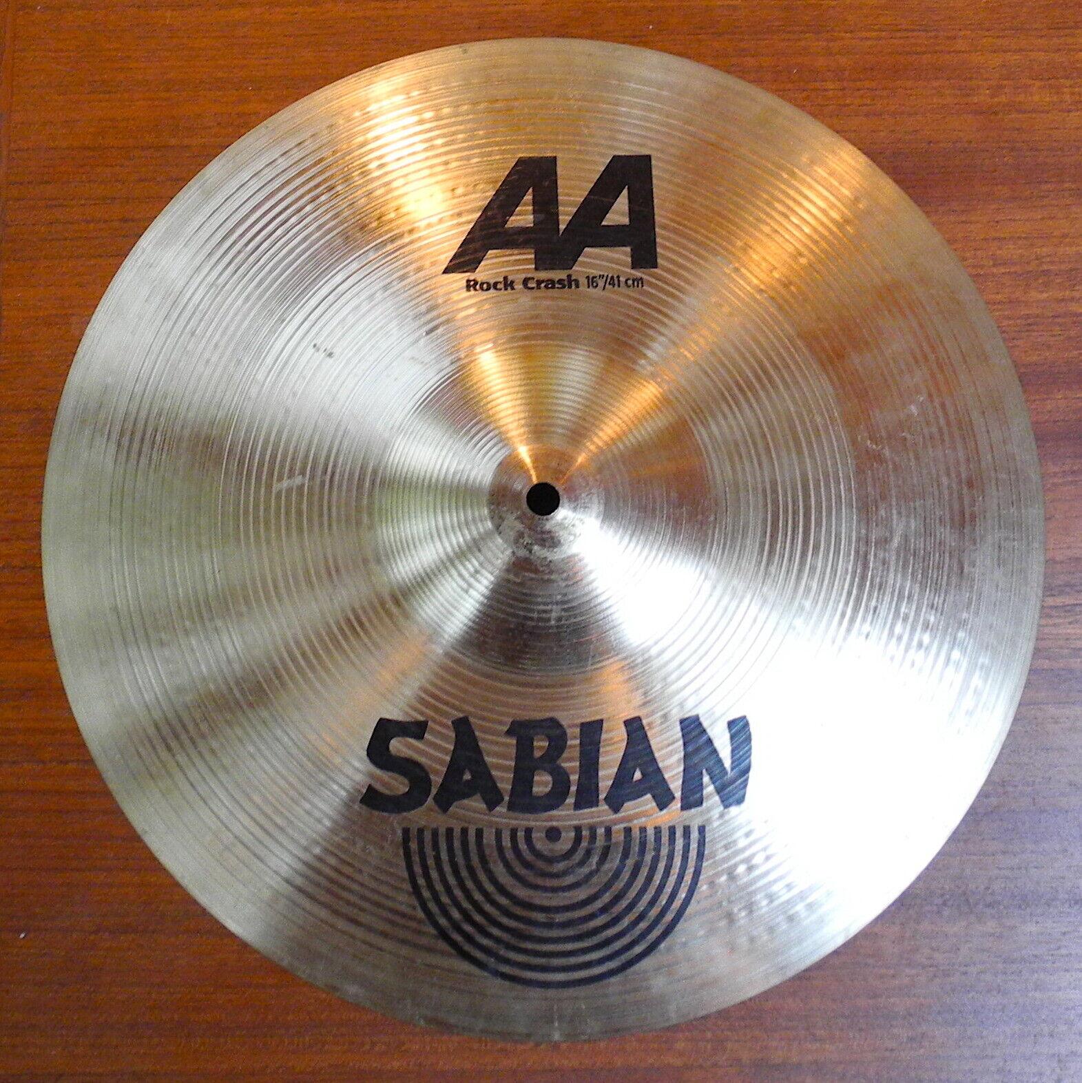 Sabian 16 AA Rock Crash Cymbal Nice  - $99.99