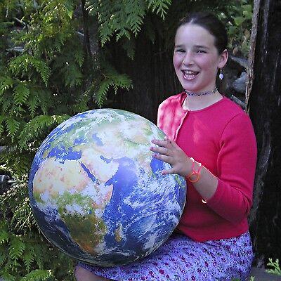 The EarthBall Inflatable NASA Image World Globe with 16 Page Global Handbook
