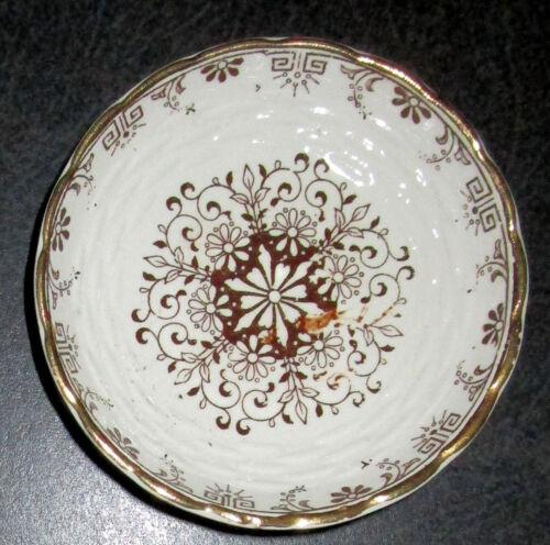 1885 Minton Brown Transfer Butter Pat, Marked, UK