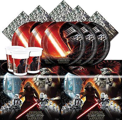 Star Wars The Force Awakens Childrens Birthday Party Tableware Decorations VII - Star Wars Birthday Decorations