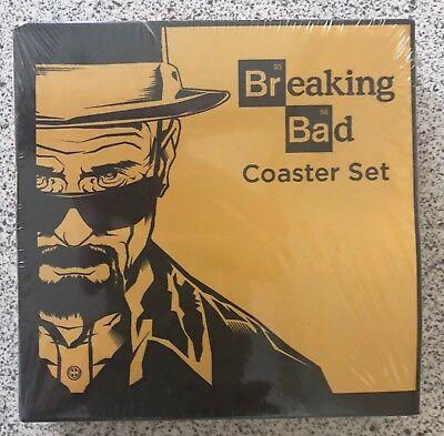 Breaking Bad Coasters 4 Piece Coaster Set. Brand New & Sealed.