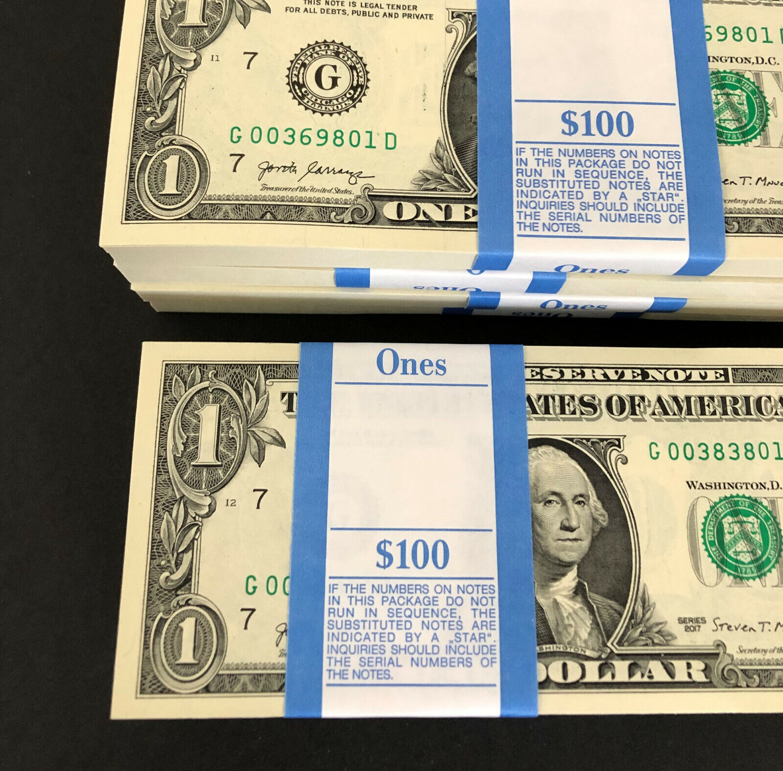 Crisp $2 Note from BEP Pack Dallas 2013 10 new Uncirculated Two Dollar Bill