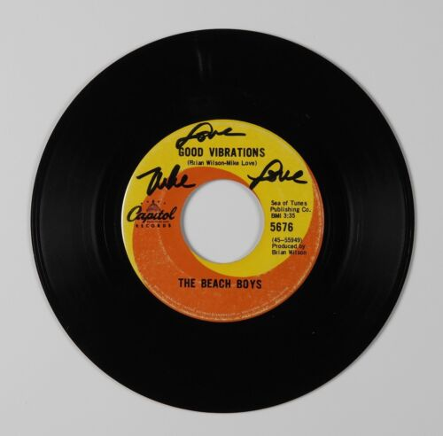 Beach Boys Mike Love JSA Signed Autograph 45 Record Vinyl Good Vibrations