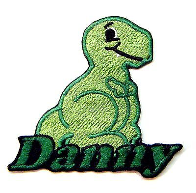 Iron-on Dinosaur Patch With Name Personalized Free