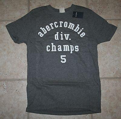 Abercrombie Boys Medium Muscle Fit Div Champs Grey T-shirt - Last One