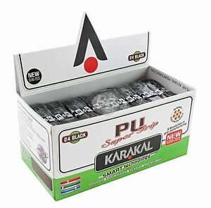 6-x-Karakal-Super-PU-Replacement-Grips-Black-Tennis-Squash-Badminton