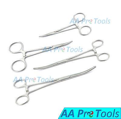 Aa Pro 4 Pc Locking Forceps Curved Hemostats Set