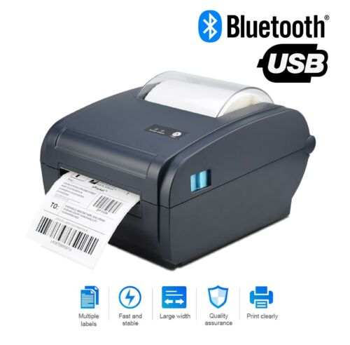 Shipping Label Barcode Printer 4x6 High Speed Thermal Direct  printer Bluetooth