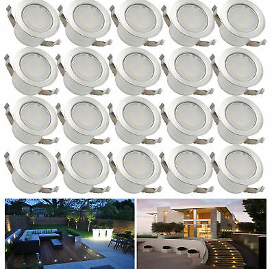 20X 31mm 12V Outdoor Garden Landscape LED Deck Rail Path Stair Lights warm white