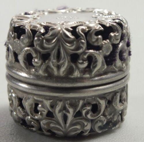 Antique Webster Sterling Silver Filagree Scent Box / Locket Vinaigrette Pendant