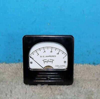 Triplett Dc Amperes Panel Meter 0-1 Amps 3 X 3 Free Shipping