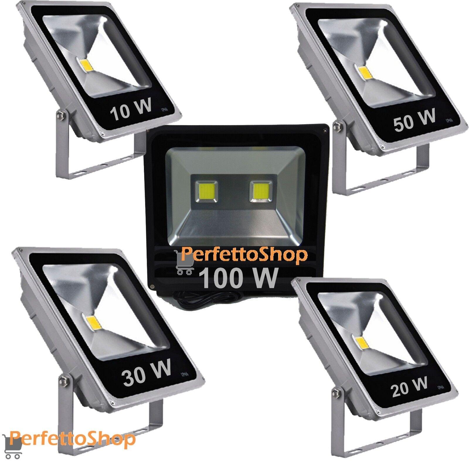 Faro a led da esterno slim Faretto sottile IP 65 10 W 20W 30W 50 100 WATT luce