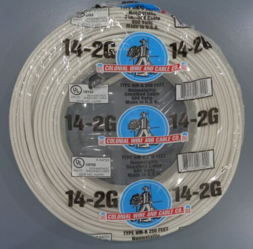 250-ft 14/2 Romex Wire Non-Metallic Wire NM-B Cable Indoor Wire(By-the-Roll)