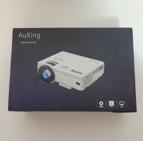AuKing Full HD Projector Upgraded Mini Portable Home Movie Video LCD Projector