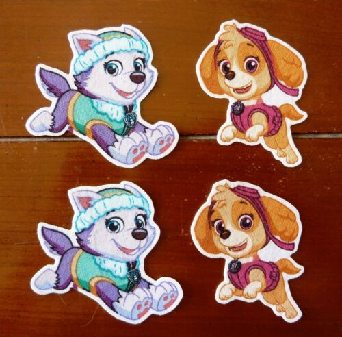Iron On Sew On Transfer Applique Paw Patrol Girls Cotton Fabric Patches Patch