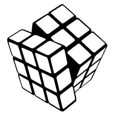 Rubik Cube vinyl car Decal / Sticker
