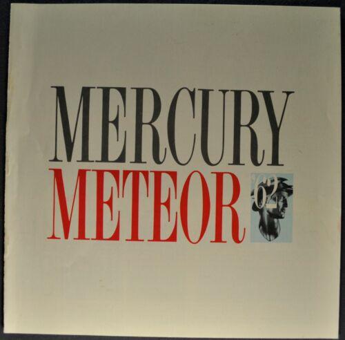 1962 Mercury Meteor Catalog Sales Brochure Custom Sedan Nice Original 62