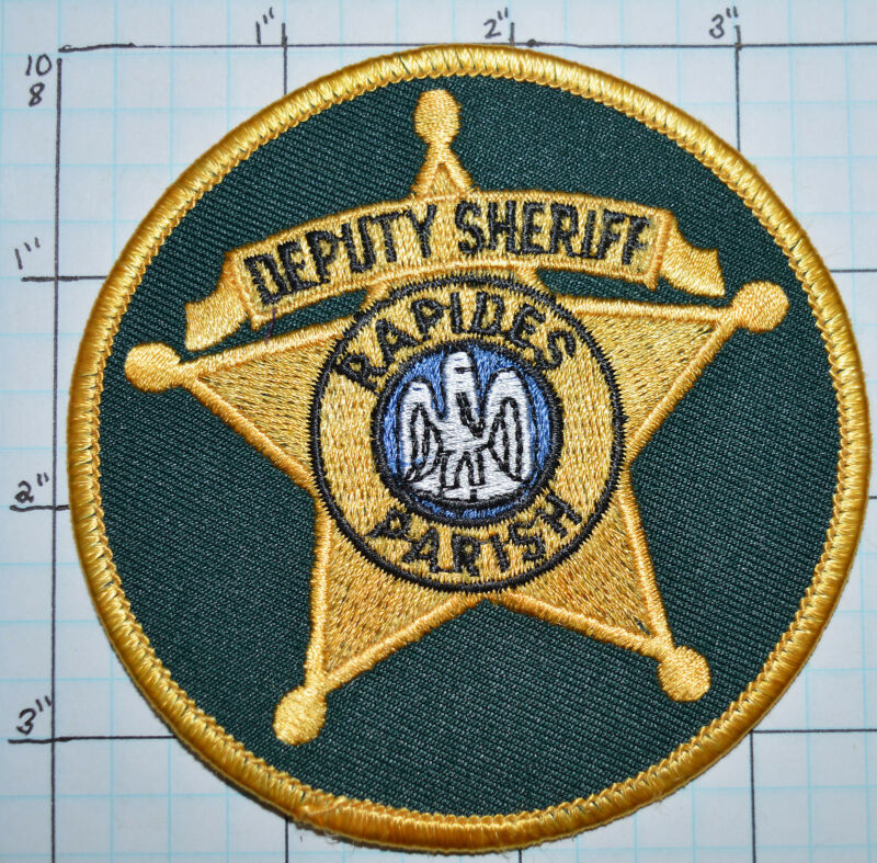 LOUISIANA, RAPIDES PARISH DEPUTY SHERIFF ROUND PATCH