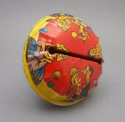 Vintage Tin Litho Bell Rattle Noisemaker Halloween New Year's Eve Party Dancing - Vintage Halloween Dance Party