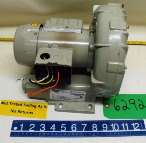 Gast Regenair Regenerative Blower Model # R2103 US Motor 1/3 HP Free Shipping