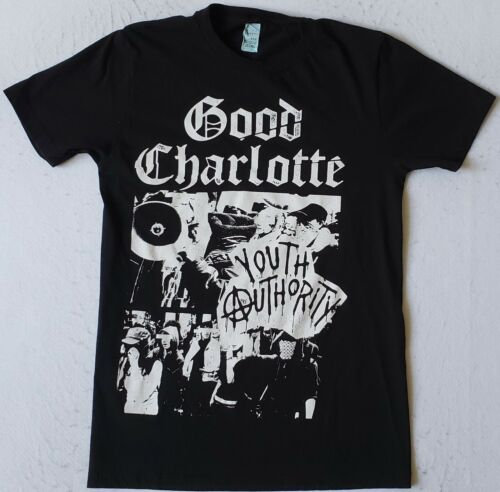 GOOD CHARLOTTE Youth Authority Size Small Black T-Shirt