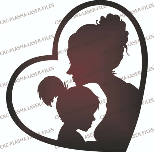 Mother Daughter  DXF Sign Plasma Laser Waterjet Router Plotter Cut Vector CNC