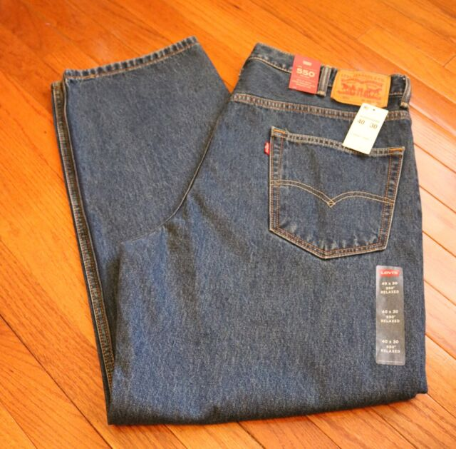 Mens Levis Jeans 550 Size 40 X 30 Relaxed Fit Leg Straight | eBay